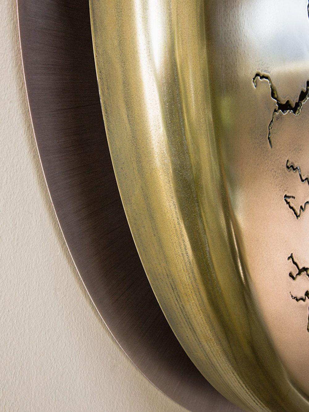 Detail of Sculptural wall installation LIGHTNINGS V