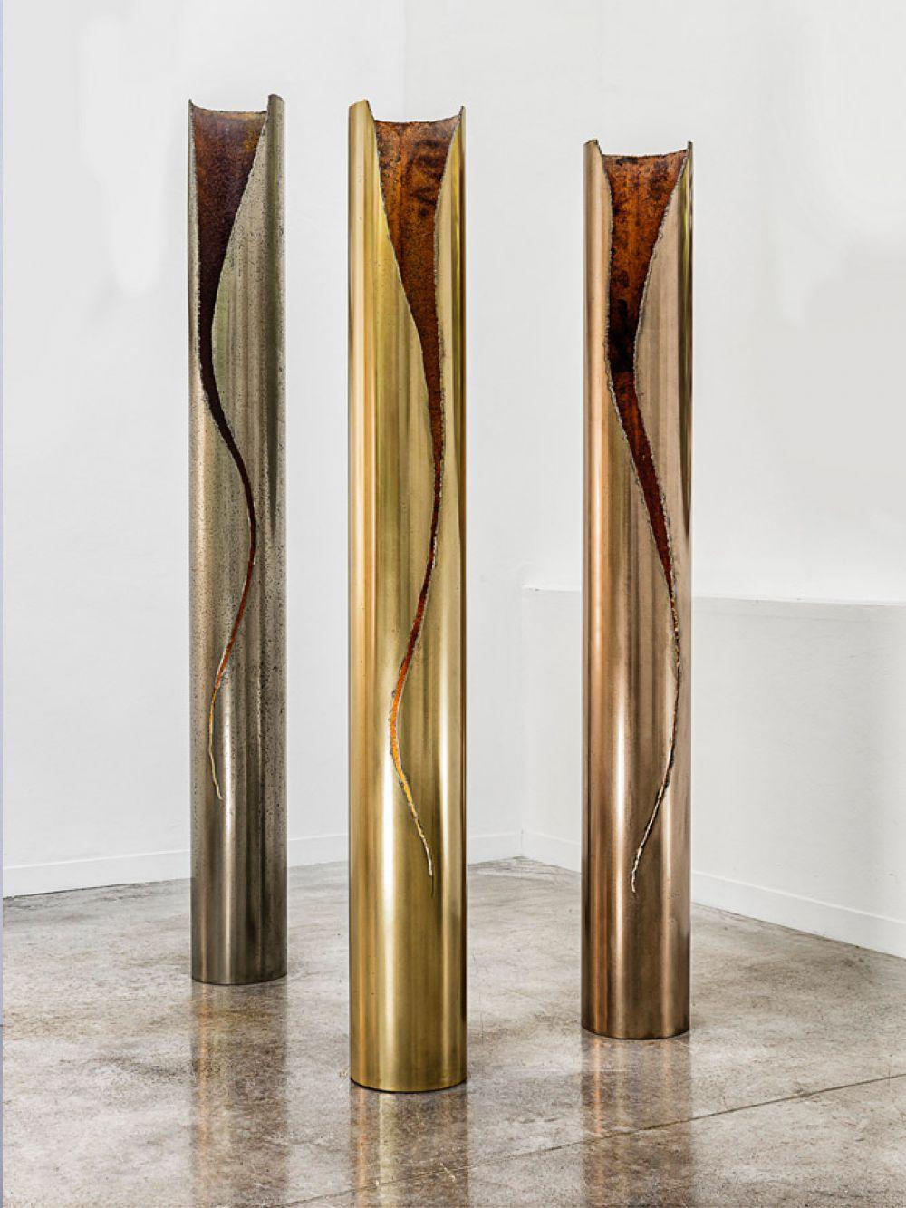 CUT I Sculptural lightings : Light Bronze - Brass - Red bronze
