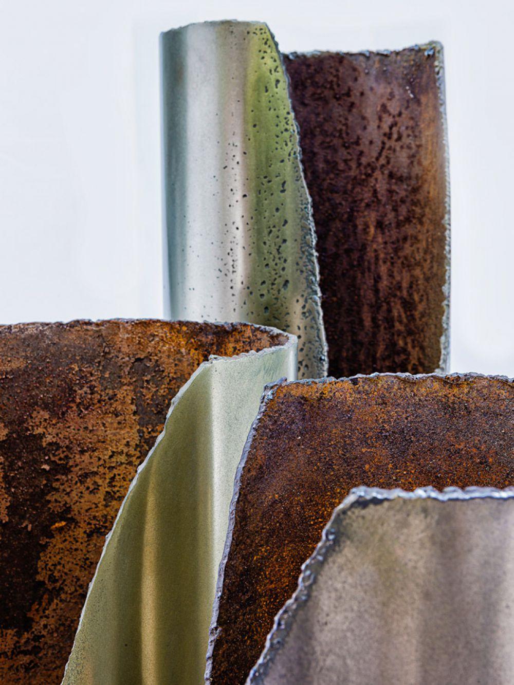 CUT I Sculptural lightings Details : Light Bronze - Brass - Red bronze