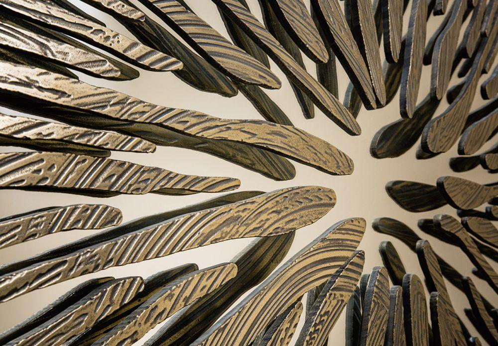 PUPIL VIII Detail - Sculptural mirror : Aluminum  - Liquid Bronze - Brass - Cast Bronze finish