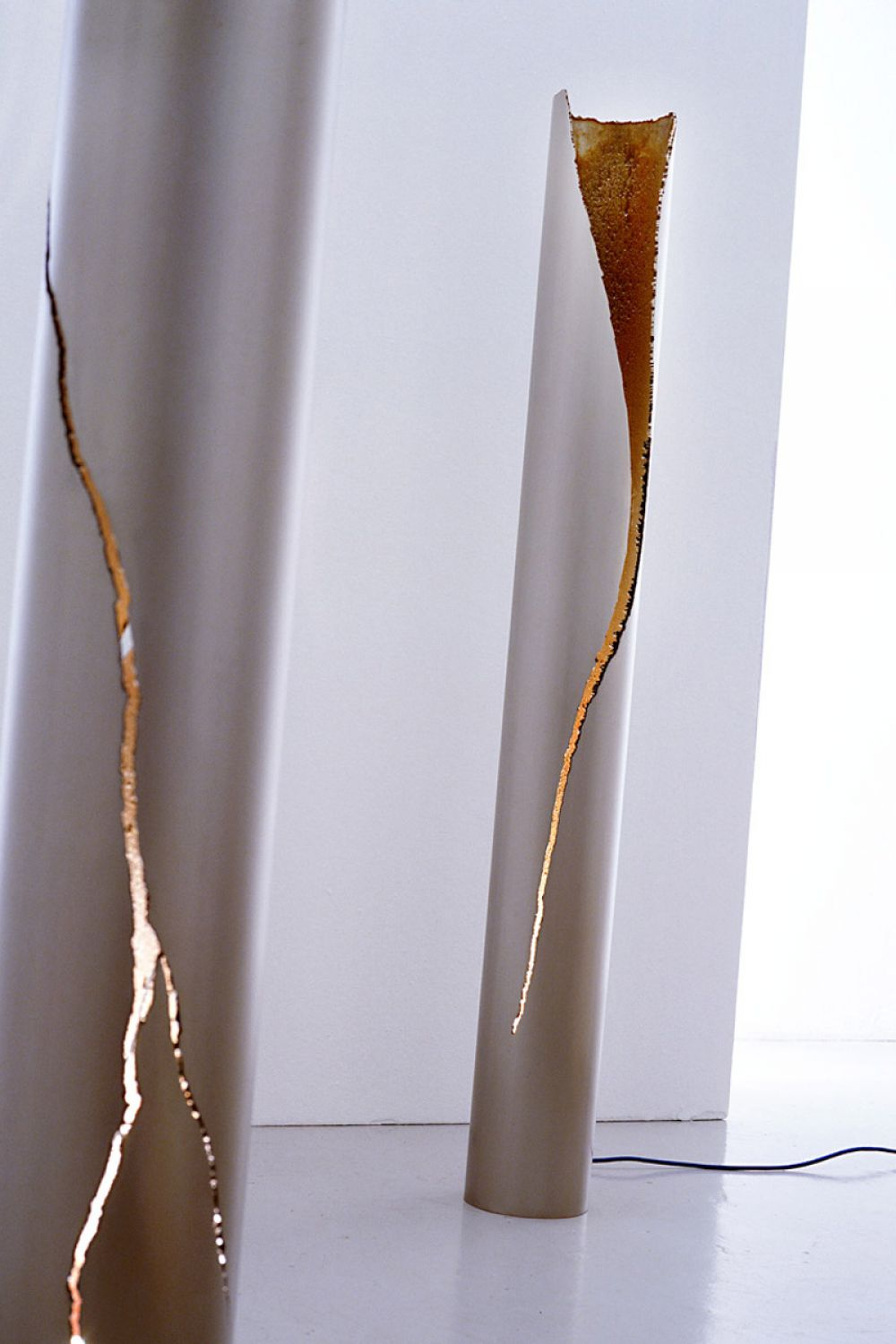 CUT I and II Sculptural Lighting : Stainless Steel