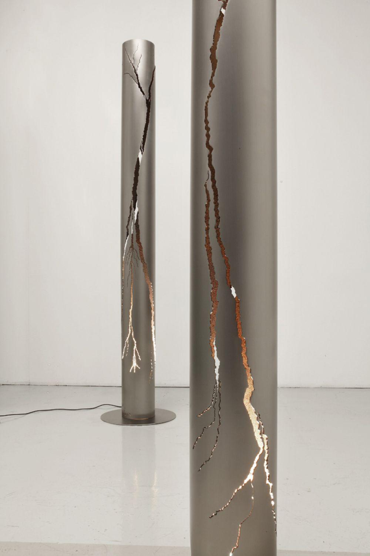 CUT IV Sculptural Lighting : Stainless Steel