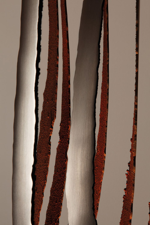 KOICEA Sculptural Lighting Detail : Stainless Steel