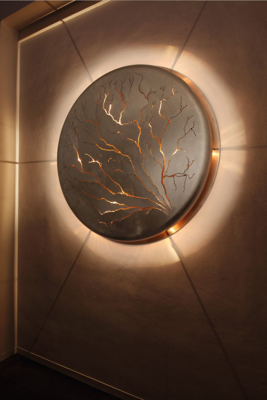 LIGHTNINGS wall installation : Stainless Steel