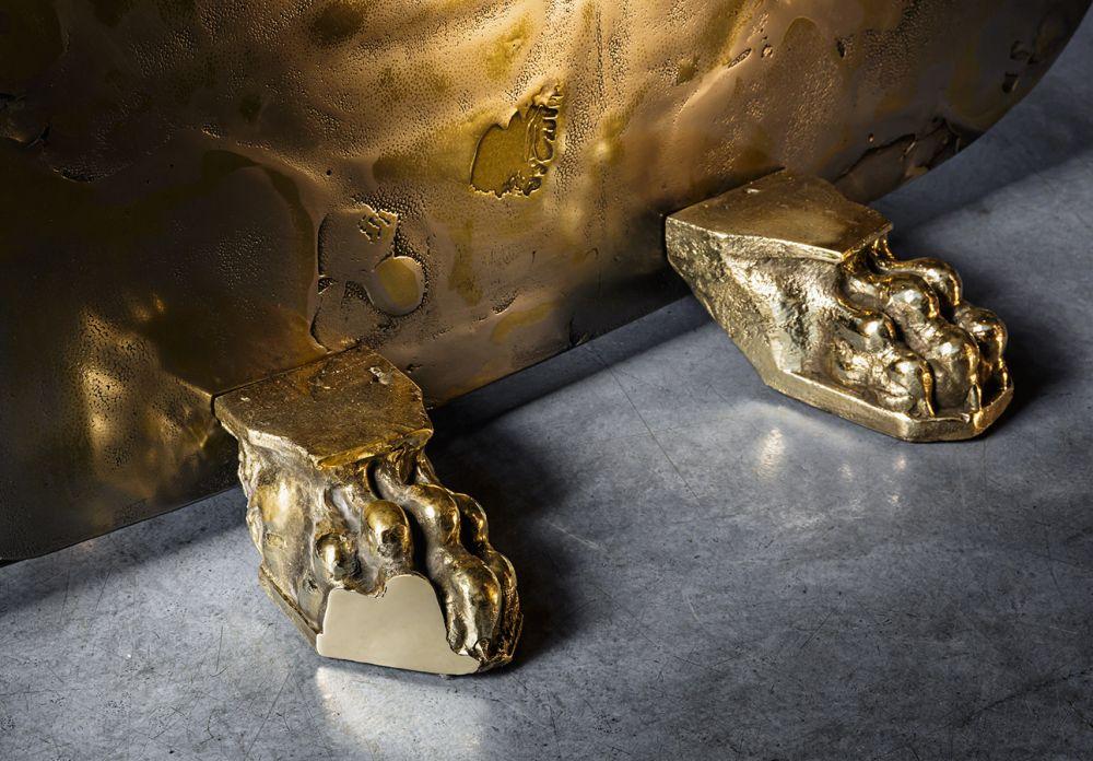 Sculptural screens Skins - cast brass details