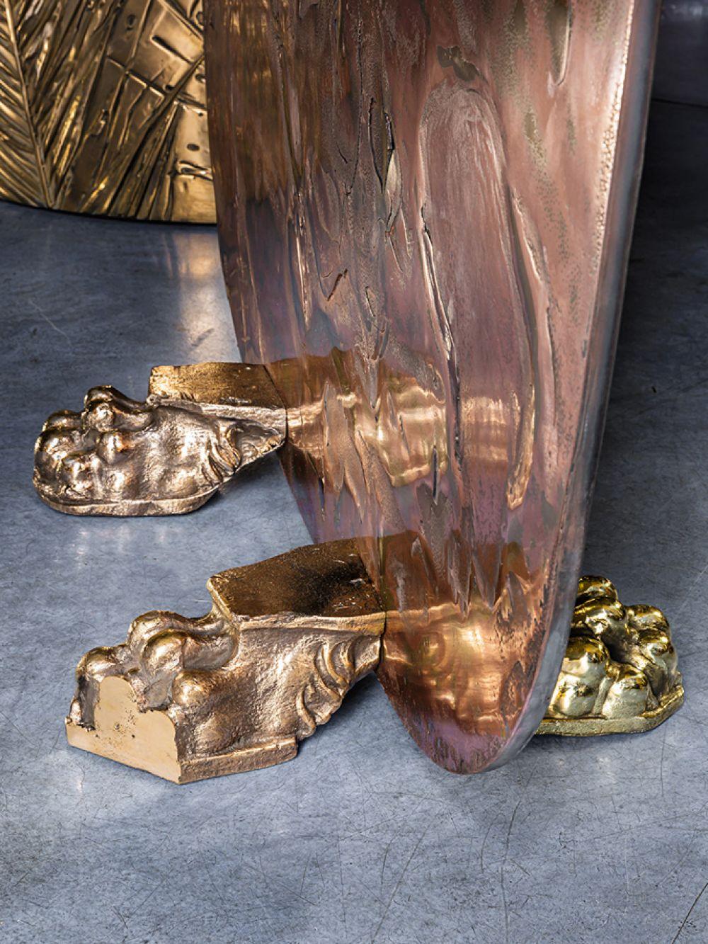 Sculptural screens Skins - cast bronze details