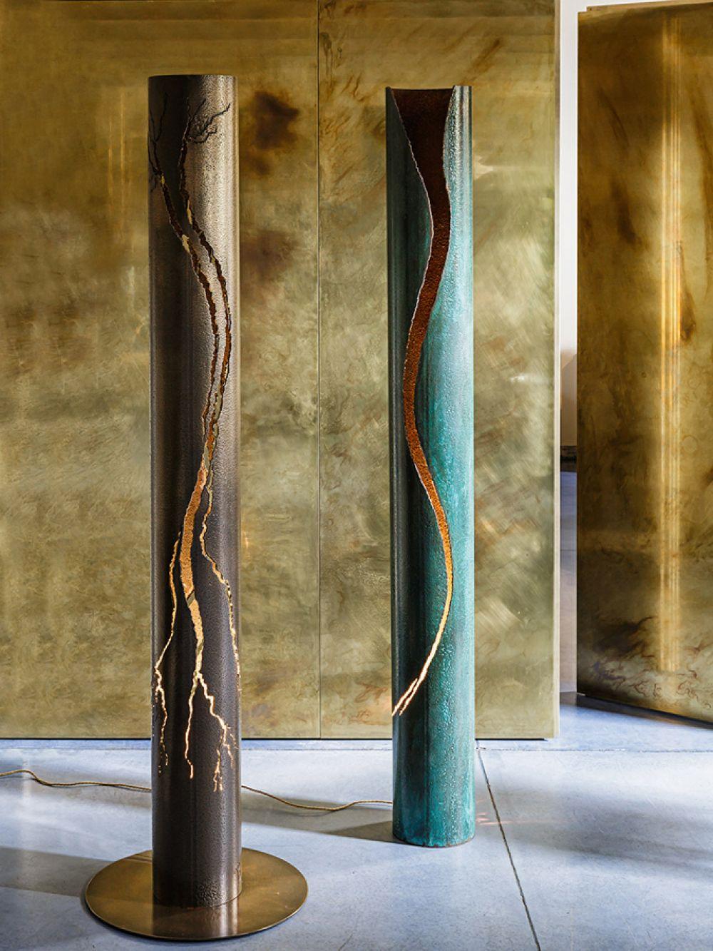 Sculptural lighting Cut Series Bronze 2016