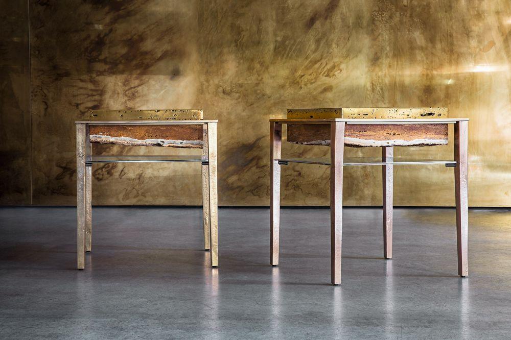 Sculptural tables Cremino