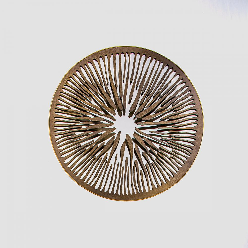 PUPIL V - Sculptural mirror : Satinated Aluminium - Liquid bronze - Brass - Bronze velvet finish