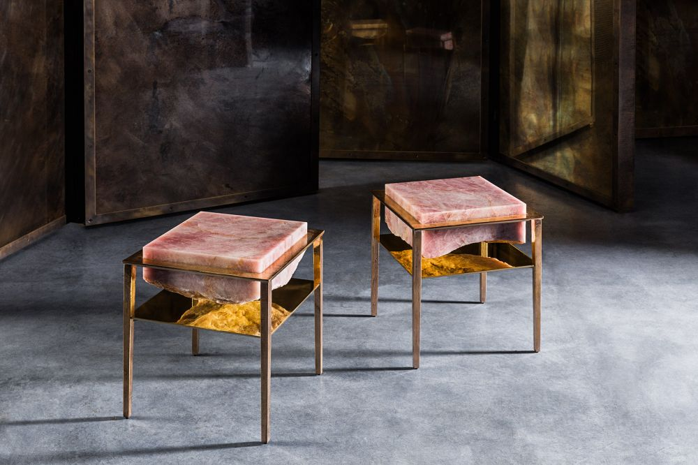 CREMINO DEEP ROSE SIDE TABLES