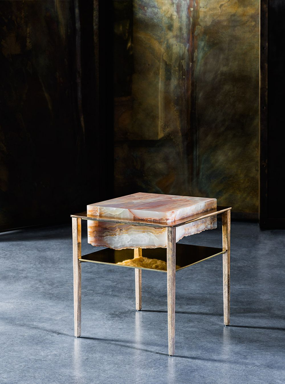 CREMINO ORANGE FLAKES SIDE TABLE